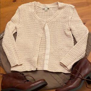 XS BANANA REPUBLIC Ivory Cardigan Sweater